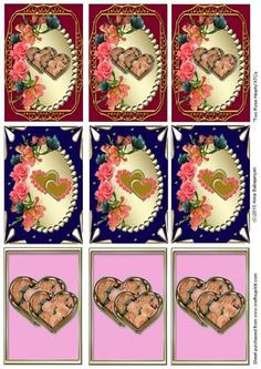 Lovely ATC cards for Valentine's Day, Wedding, Anniversary,Engagement etc