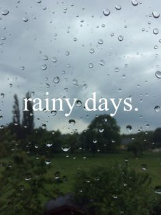 The Rain Keeps us Alive