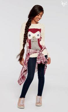 We think this oh-so cozy sweater is a hoot!