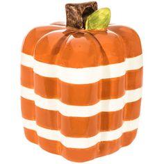 Orange Striped Square Pumpkin