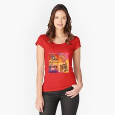 Camiseta entallada de cuello ancho 'free fire protection mask t-shirts, sweatshirts, among other products check it out! Vintage Design, My T Shirt, Chiffon Tops, Sleeveless Tops, Female Models, Classic T Shirts, Shirt Designs, Scoop Neck, T Shirts For Women