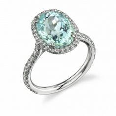 Omi Gems: #Paraiba Tourmaline and Diamond Ring #tourmaline #jewelry