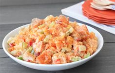When you pair sweet potatoes with a creamy (read: fatty) dressing, you end up with a side dish that has entrée-sized stats. Our solution? Butternut squash. Get the recipe for Hungry Girl's Creamy Sweet Potato Salad!