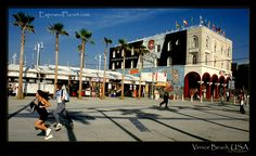 Venice Beach - I remember skating meeting friends here all the time...I would skate from Marina del Rey, stop and hang out on the boardwalk and then skate up to the Santa Monica pier...I had legs of steel. :-) I used to love to skate though and would everywhere!