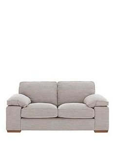 Aylesbury 2 Seater Fabric Sofa in Beige Contemporary Home Decor, Unique Home Decor, Fabric Sofa, Woven Fabric, Trend Fabrics, Oversized Chair And Ottoman, Fabric Combinations, Sofa Home, 2 Seater Sofa