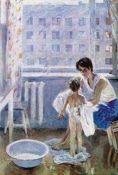 «Впечатления дороже знаний...» Russian Painting, Russian Art, Figure Painting, Figurative Kunst, Socialist Realism, Soviet Art, Art Folder, Impressionist Art, Baby Art