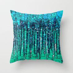 :: Blue Ocean Floor :: Throw Pillow by GaleStorm Artworks - $20.00
