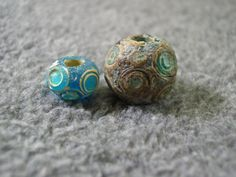 Ancient Chinese Warring States faience and glass beads.