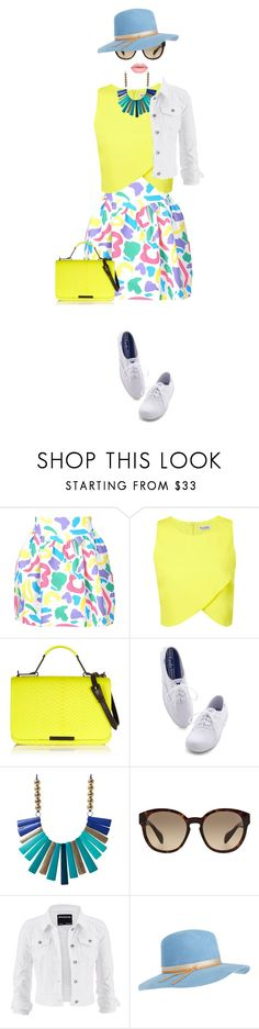 """""""A colorful day"""" by kriz-nambikatt on Polyvore featuring Moschino, Miss Selfridge, Emilio Pucci, Keds, Prada, maurices, Calypso Private Label and Lime Crime"""