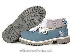 Women's Timberland Roll Top Boots-Blue Grey £71.20