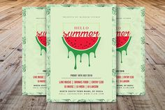 Hello Summer Party Flyer by Madhabi Studio on @creativemarket