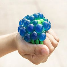 Release Pressure Novelty Stress Ball Toy Squeeze Balls Hand Wrist Exercise Stress Grape Shape Toys