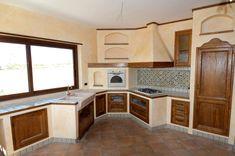 Foto: cucina in muratura con piano in marmo di modaffari marmi e ...