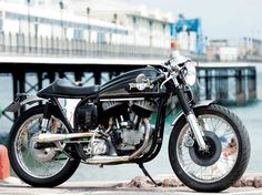"""Nick Roskelley's custom-made """"Harleyton"""" is part Harley-Davidson, part Norton. (Photo and article by Neale Bayly, Motorcycle Classics March/April 2009)"""