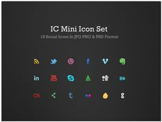 IC Mini #SocialMedia #Icon Set
