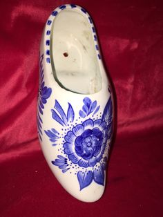 Collectible Delft Blue Ceramic Clog Handpainted in Holland by Pamsplunder on Etsy