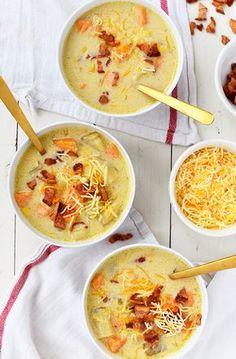 Easy Sweet Potato Corn Chowder Recipe for whole the family. #recipe