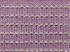 Modelo de punto Knitting