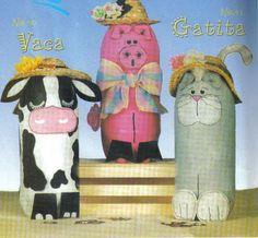 Reciclagem e Sucata: Idéias - Animais com Garrafas Pet