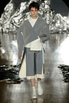 Named Sick, Yawen Qian's collection featured garments based on hospital gowns and clothing for disabled people.