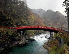 The Sacred Bridge arches over the Daiya River in Nikko. Kosuke Okahara for The New York Times