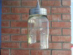 Mason Jar Pendant Light 128 oz 1 gallon by LiquorLuminations, $100.00