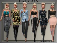 "Sims 4 CC's - The Best: ""Balmain Fall 2016"" by All About Style"