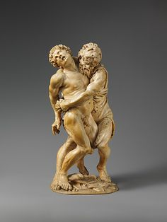 *Hercules and Achelous.17th century  Attributed to the Master of the Martyrdom of St.Sebastian (Austrian)  Ivory