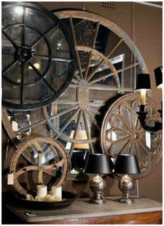Wagon Wheel Wall Decor wall-mounted stainless steel coat rack wagon wheelskare-design