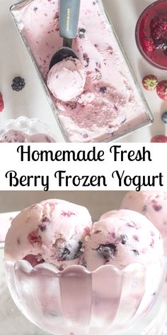 Frozen Yogurt a creamy delicious frozen homemade dessert treat, made with fresh berries, yogurt and cream.  So good you won't even miss ice cream!  #frozenyogurt #icecream #icecreammaker #berries #berryicecream #berryfrozenyogurt #dessert #summerdessert   via @https://it.pinterest.com/Italianinkitchn/