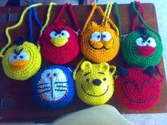 crochet animal necklaces