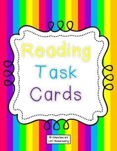 Reading / Writing Task Cards FREE