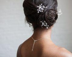 Pearl wedding hair pins bridal pearl hair combs by louloudimeli