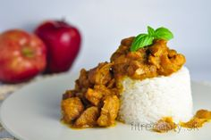 Fit karfiolová praženica s pórom Brownies Sains, Mango Salat, Desserts Sains, Grains, Good Food, Low Carb, Rice, Lunch, Healthy