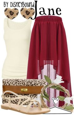 Jane by Disney Bound. Disney Fashion Outfits. Tarzan. I think purple eyeshadow would add a little somethin special.