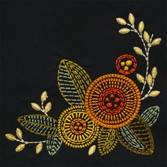 Great Pic kantha Embroidery Designs Thoughts Embroidery is often a stunning method to light up the house as well as a great hobby for you to spend doing. Hand Embroidery Dress, Hand Embroidery Videos, Embroidery Flowers Pattern, Embroidery Works, Creative Embroidery, Japanese Embroidery, Hand Embroidery Stitches, Crewel Embroidery, Hand Embroidery Designs
