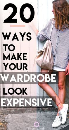 Are you ready for some easy clothing hacks to make your style look more expensive than it really is? Here are 20 Ways to Make Your Wardrobe Look Expensive! How To Look Expensive, Expensive Clothes, Cheap Clothes, Diy Clothes, Look Thinner, How To Look Skinnier, How To Look Better, Look Fashion, Fashion Beauty