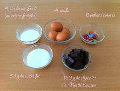 Ingrédients recette mousse au chocolat délicieuse