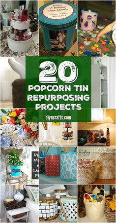 20 Crazy Creative Popcorn Tin Repurposing Projects {Curated and Collected by DIYnCrafts Team} via @vanessacrafting