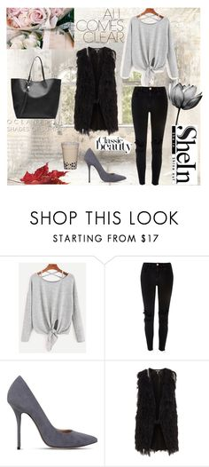 """""""SheIn"""" by amraaaaa ❤ liked on Polyvore featuring River Island, Kurt Geiger and Alexander McQueen"""
