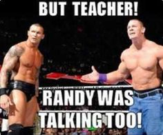 CENA AND ORTON GET IN TROUBLE IN WRESTLING SCHOOL