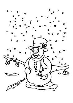 Il neige, monsieur bonhomme de neige sera encore plus heureux avec des couleurs.