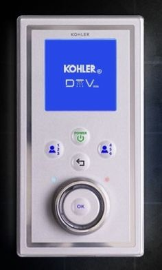 Kohler's DTVII Kohler presented DTVII, a device that controls water, sound, light and steam, enabling the homeowner to digitally customize every shower experience. Photo: www.us.kohler.com