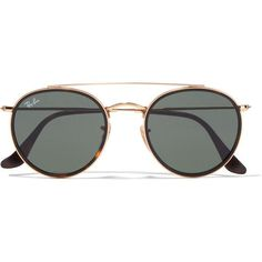 dd95910f79 Ray-Ban Round-frame gold-tone and tortoiseshell acetate sunglasses ( 160)