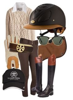 """Fall Equestrian"" by alequestrian ❤ liked on Polyvore featuring Joules, Jack Wills, Tory Burch and Ray-Ban"
