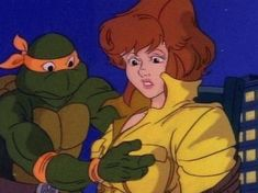 Mikey is getting a little handsy here:   20 Hidden Messages In Cartoons That Probably Made You The Messed-Up Person You Are Today