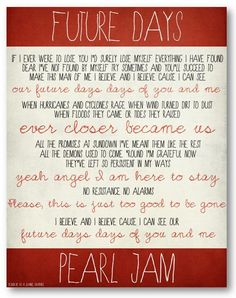 Another song I keep getting requests for, from the new Pearl Jam album...:-)  #pearljam #futuredays