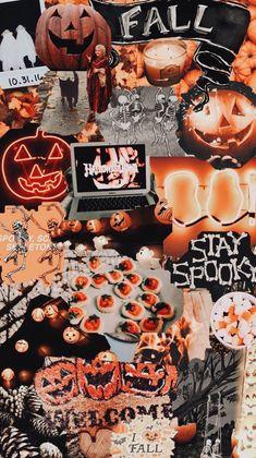 Wallpaper Collage, Cute Fall Wallpaper, Wallpaper Free, Halloween Wallpaper Iphone, Holiday Wallpaper, Halloween Backgrounds, Wallpaper Backgrounds, Trendy Wallpaper, Fall Backgrounds Iphone