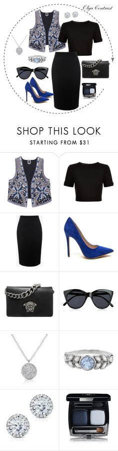 """""""14.06.2016"""" by olgacontrast on Polyvore featuring мода, Ted Baker, Alexander McQueen, Versace, Le Specs, Cathy Waterman и Kobelli"""