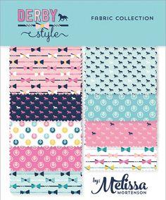 Cotton Fabric half yard bundle of 3   Derby Style by anthemfabrics